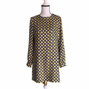 Milly geometric print silk dress. Size 8